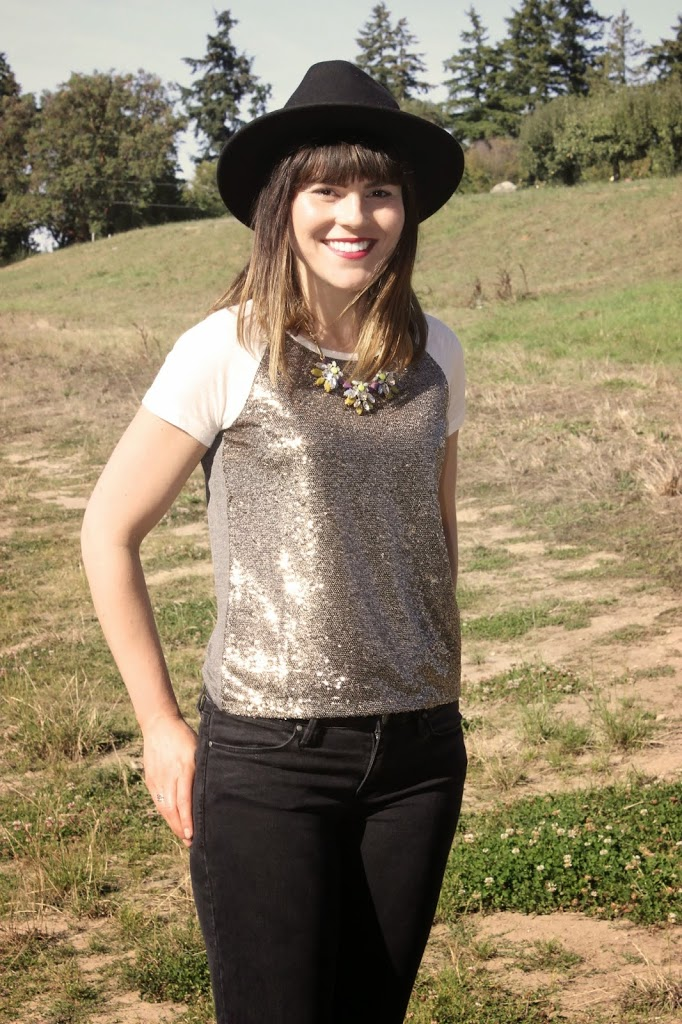 How to wear a sequin top