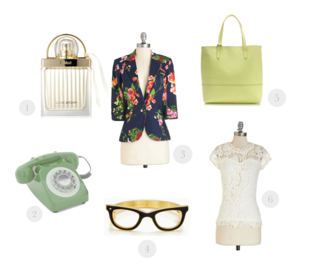 rotary phone, Modcloth, Kate Spade, J.Crew, Floral, spring fashion