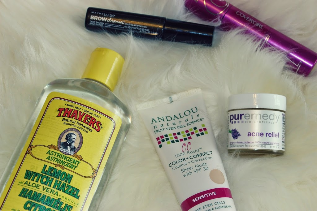 Thayers, Andaulou, Puremedy Acne relief