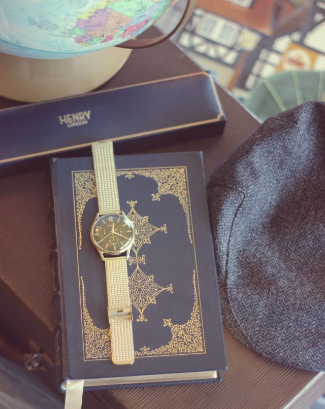 Henry London, Vintage inspired Watch, Nordstrom, The Notebook , engagement photo shoot, custom engraved watch, vintage fashion