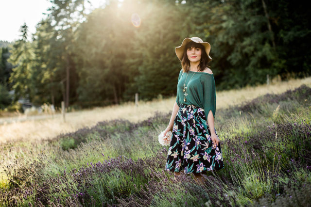 Migration Boutique, Rivkah Photography, Long Meadow Farm, Monday Magazine, Fashion Blogger, Victoria, Lavender Fields, floral