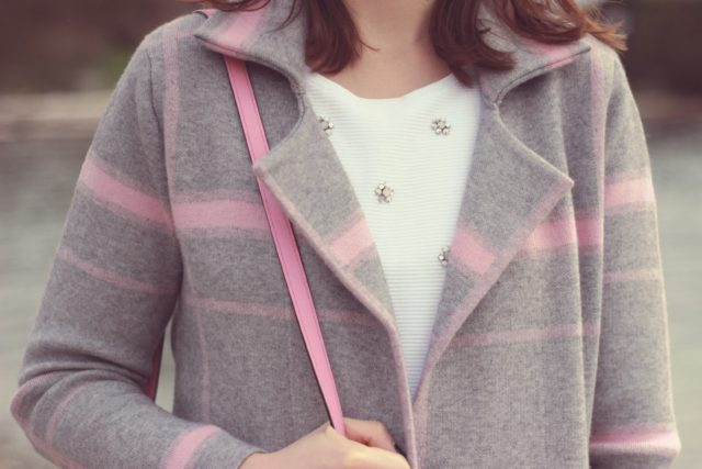 Chic Wish, Trendy Grid coat, grey and pink, fall fashion, fashion blogger, vintage, street style, street fashion