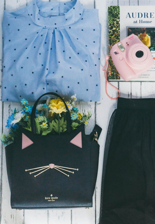 H&M, Forever 21, Tulle, skirt, Star, Cat, Purse, Kate Spade, Shearling, motto jacket, beret, Spring, Fashion