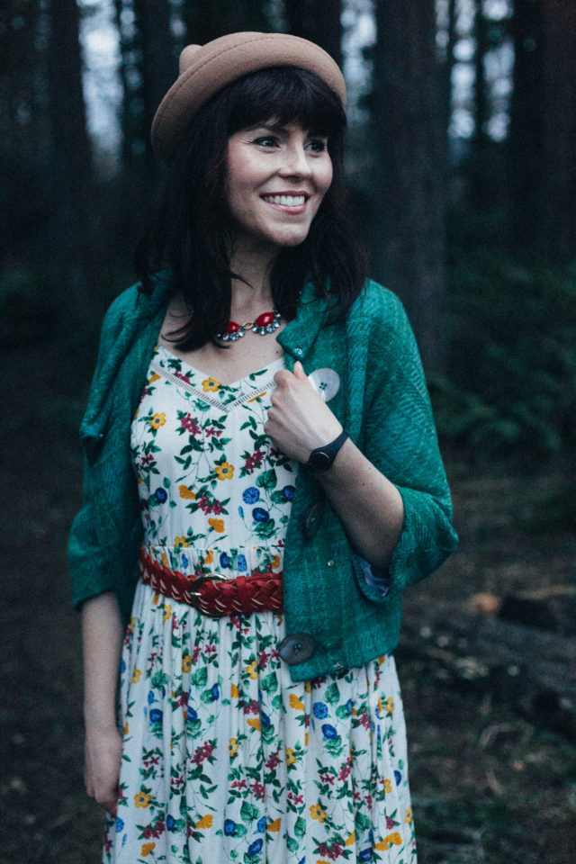 Old Navy, Vintage, Floral, Dress, Plaid, Jacket, Cat, Spring, Style