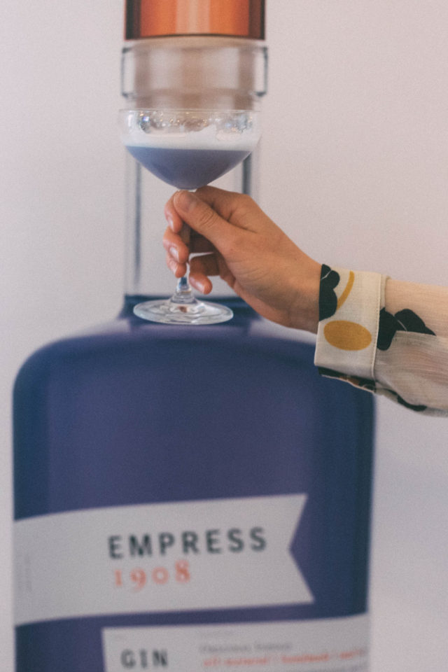 Empress 1908, Colour-changing Gin, Fairmont Empress, Victoria Distillers , Q 1908 cocktail