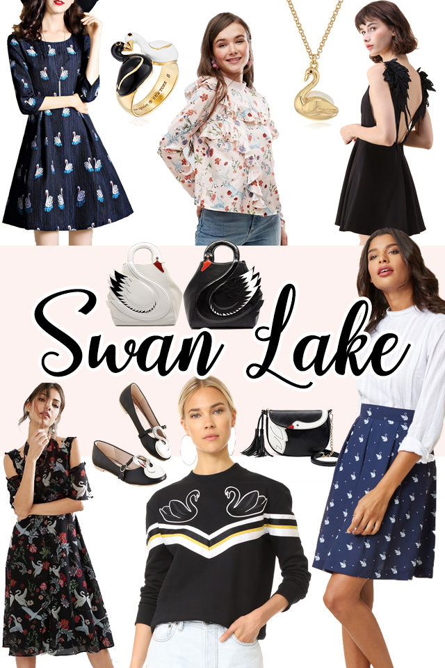 Swan, Vintage Fashion, Kate Spade, Inspired, Black Swan, Women,