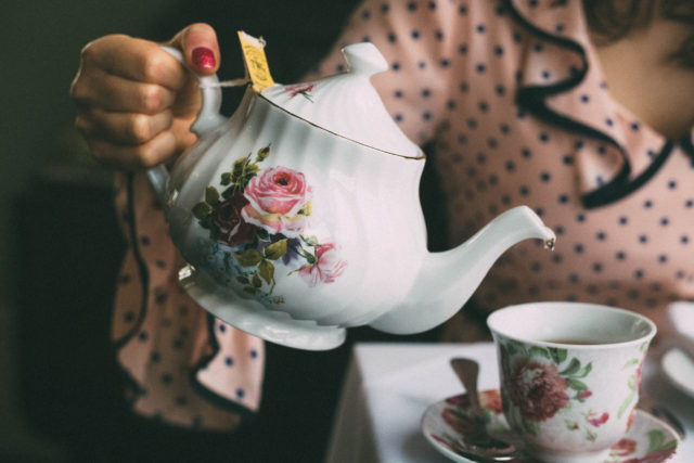 The Pendray Teahouse, Gatsby Mansion, Pendray Inn, Victoria Tea Room, Victorian-Style afternoon tea, Victorian age, historic charm, Joanie Clothing, Vintage Style, Penny Polka Dot Frill Dress,