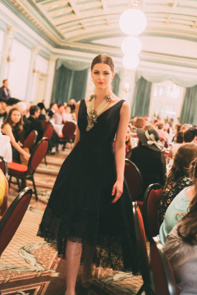 Shine Fashion Tea, 2018, Fairmont Empress, Fashion Show, Afternoon Tea, Feb 2018, Hosted by TODD TALBOT & REBECCA TALBOT, BC Children's Hospital, floral dress, Ever New,