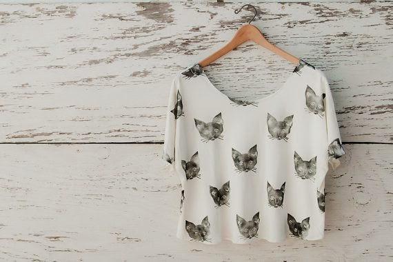 cat printed shirt
