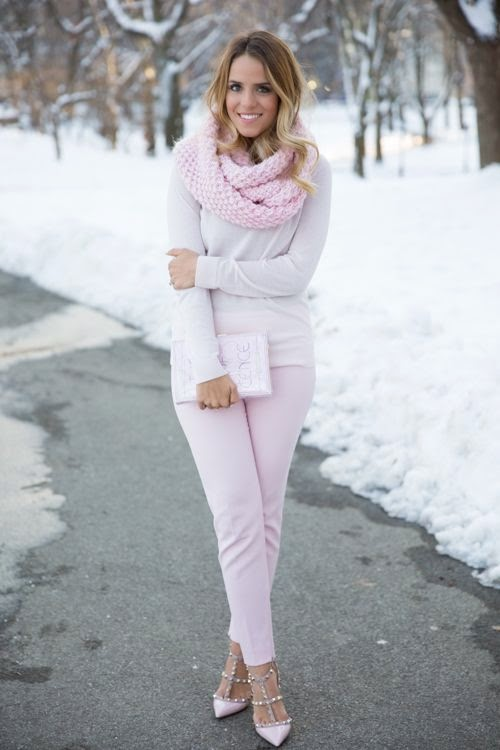 pale pink fashion