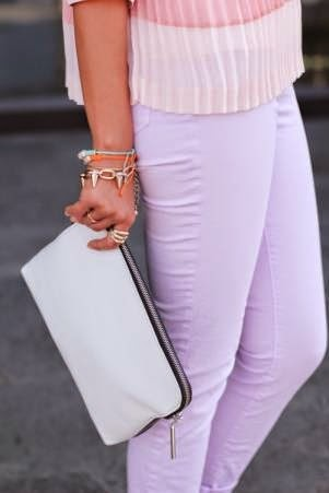 purple pastel pants