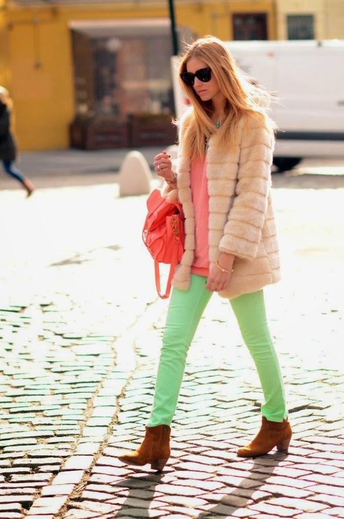 green pastel pants