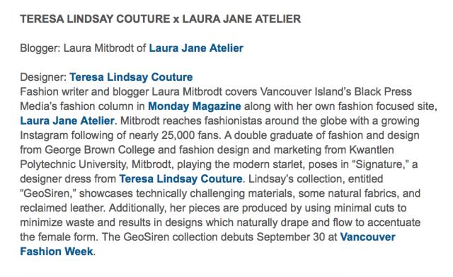 Vancouver Fashion Week SS 16