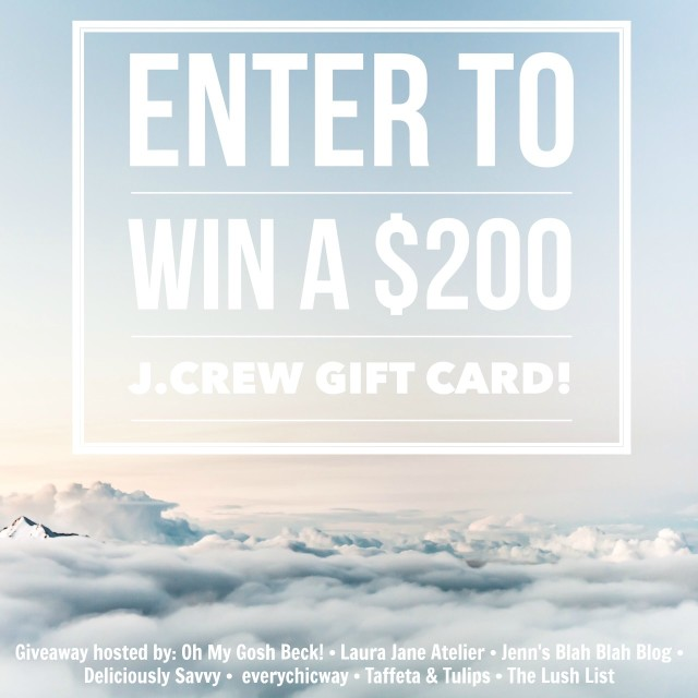 JCrew Giveaway May 2015