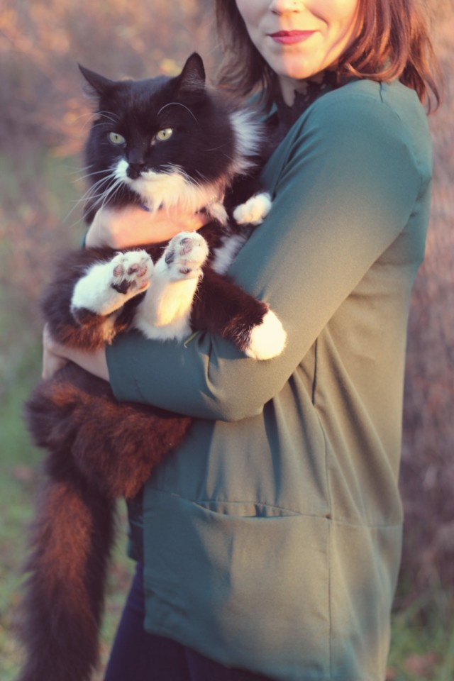 Tuxedo Cat, Cat inspired christmas gifts, gift ideas for the cat lover, beret, cat inspired fashion