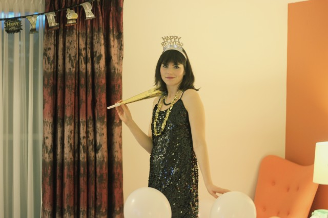 California Moonrise, Hotel Zed, NYE, New Year's Eve Outfit ideas, black sequinned dress, vintage hotel, retro hotel,