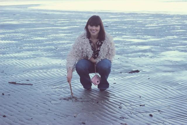 Rathtrevor Beach Provincial Park, AEO Artist flare jeans, Marshalls butterfly blouse, #LoveMarshalls