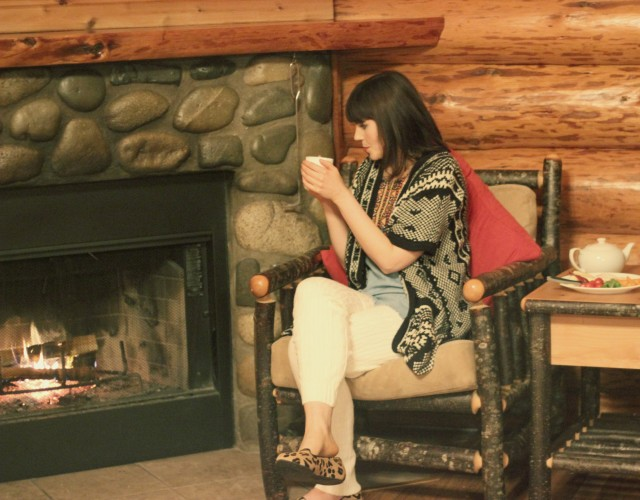 Birdies, Birdies leopard smoking slippers, Tigh-Na-Mara, Rustic Log Cabin, Marshall's Cozy Winter Fashion, Cabiin Chic, Pacific North West, Parksville, Vancouver Island,