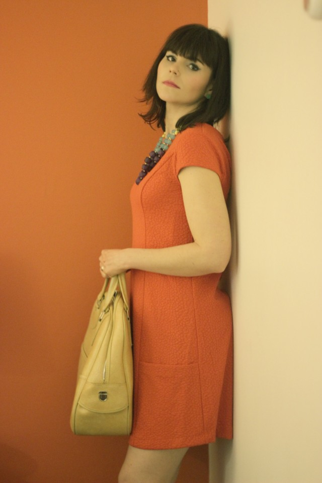 Hotel Zed, Victoria, Canada, Kensie Orange Mod Dress, Mad Men Fashion, Meghan Draper, Vintage Motel, Vintage Fashion, 1960s Fashion, Mid-Century Modern, Vintage Lugage