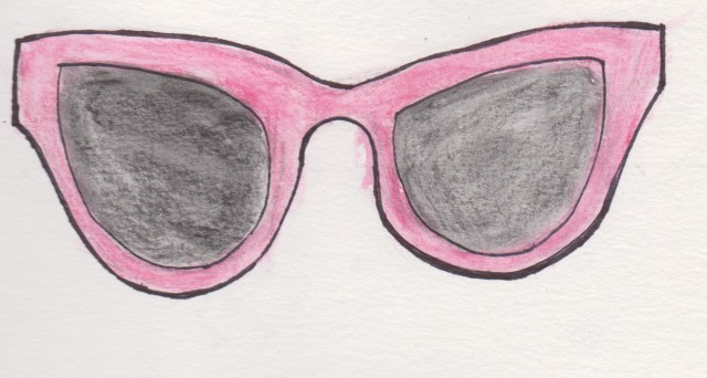 Pink Coat, Marc by Marc Jacobs Pink Cat eye sunglasses, @Sunglassesshop, @BarbaraGerwit, Charming Charlie, Pastel Fashion, Spring Fashion, Fashion Illustration, Watercolour Fashion Illustration