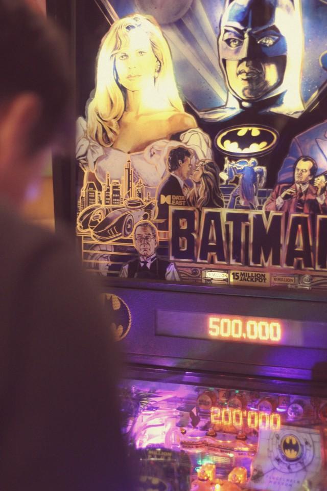 Vintage Batman pinball machine