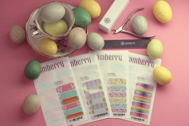 Jamberry Easter themed nail wraps