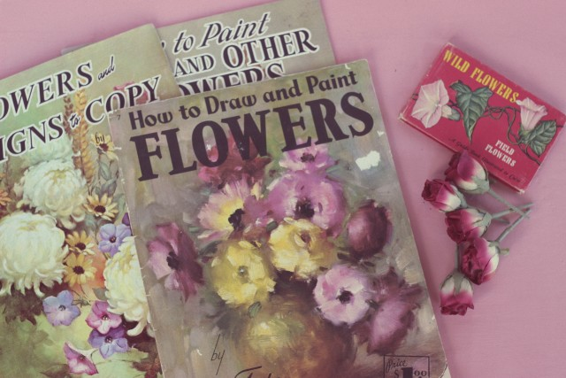 Vintage Flower Drawing Books