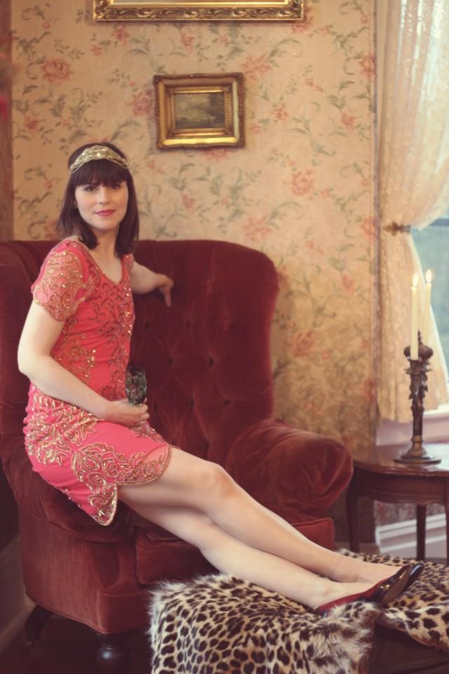 Gatsby Lady, London, Downton Abbey Fashion, vintage Fashion, Fashion Blogger, 1920s Fashion, Flapper, The Great Gatsby, Red Flapper Costume, Lady Mary , Victoria, Vintage Fashion