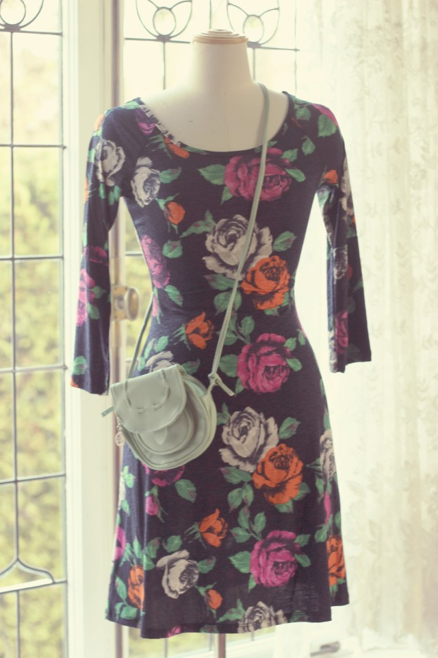 AMI Clubwear Floral Spring Dress, Fashion blogger