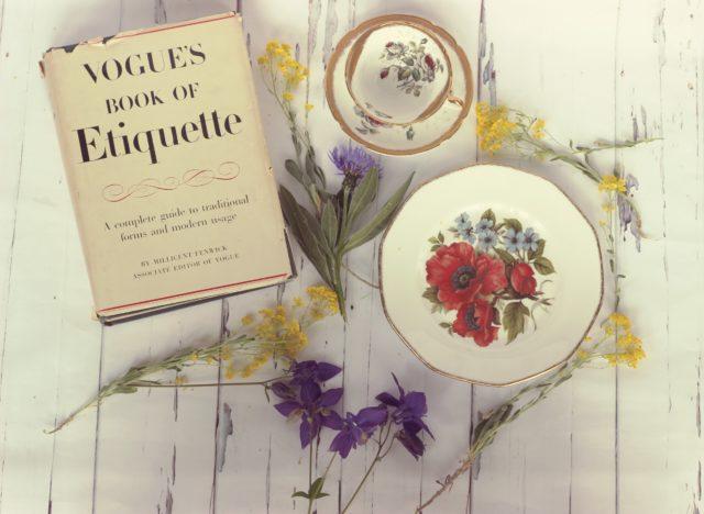 Antique bone china, shabby chic decor, vintage tea cup
