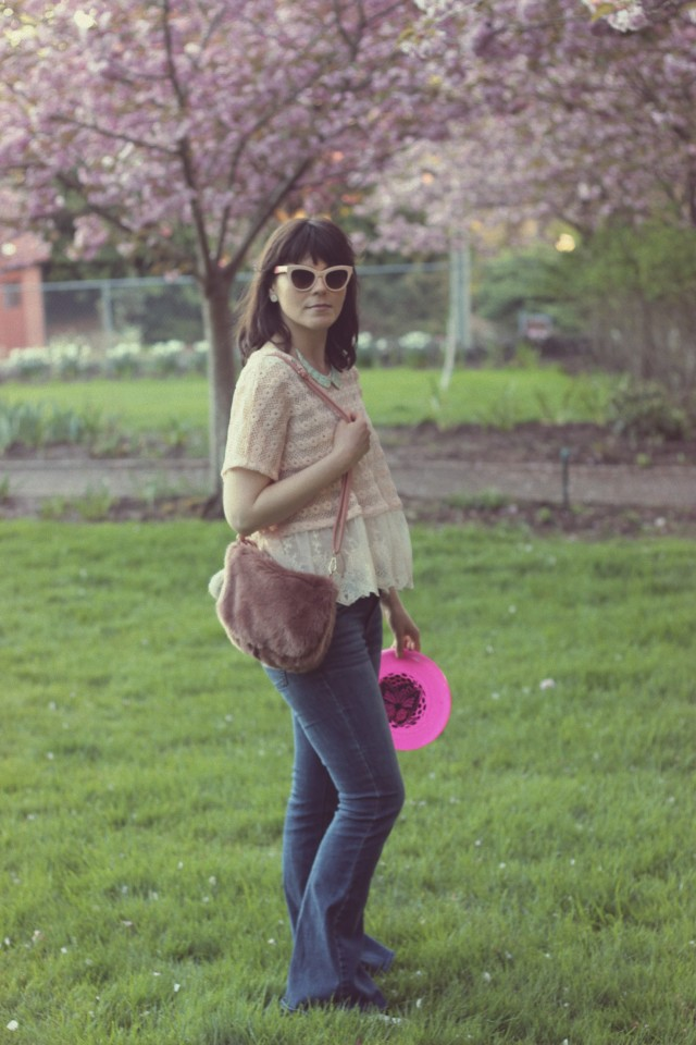 California Moonrise, Spring Fashion, AEO Artist Flare Jeans, AMI Club Wear, Marc by Marc Jacobs pink Cat Eye sunglasses, Coachella, Bohemian Fashion, Fashion Blogger, Pastel Pink, Spring Fashion