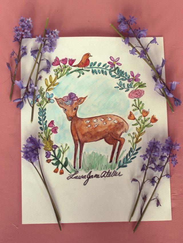 Fashion illustration, watercolour pencil, illustration, art, design, painting, drawing