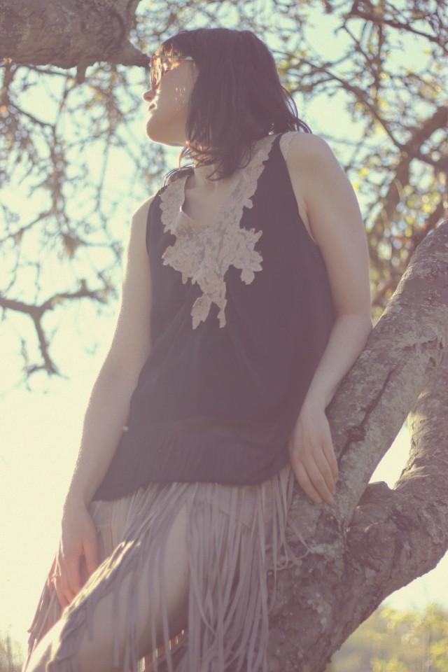 California Moonrise, Design Lab, Lord and Taylor, Fringe Skirt, Bohemian fashion, festival style, boho chic, Coachella fashion, fashion blogger, chic wish vintage sunglasses