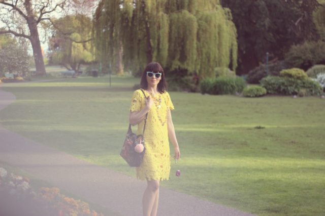 Nine West, Forever 21, Charming Charlie, Elliot Lucca, Old Navy, Yellow Shift Dress, Spring Fashion