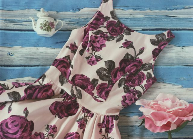 Lady Vintage Tea Dress, Vintage floral tea dress, vintage fashion
