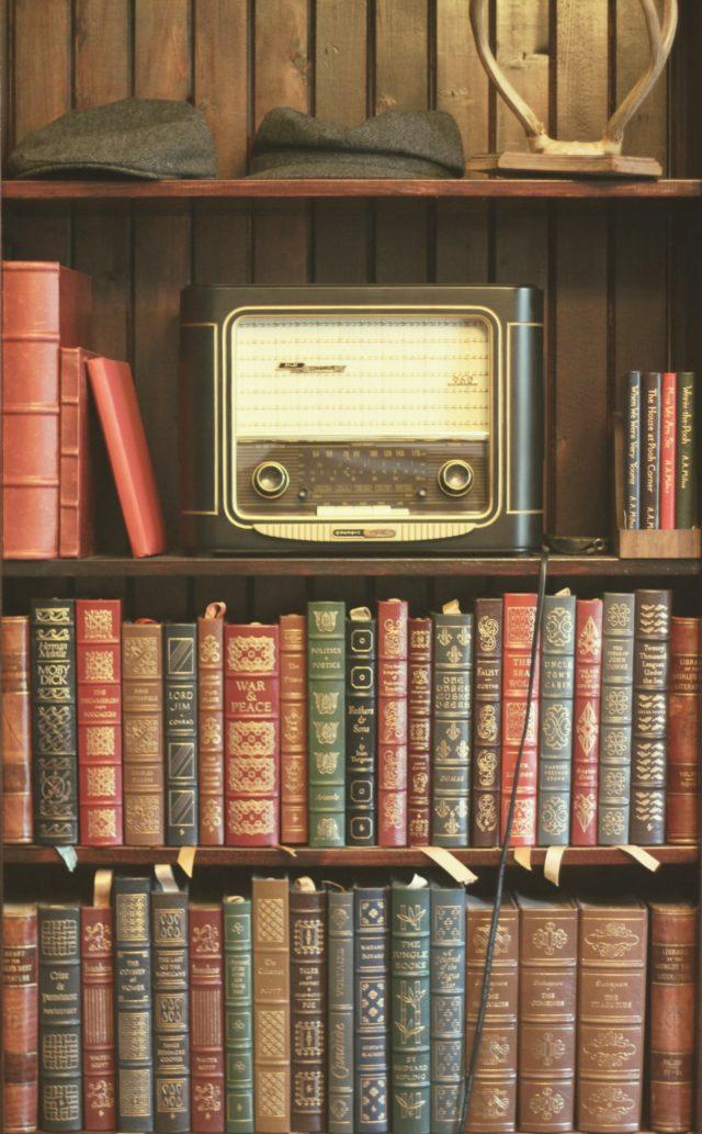 Vintage Library, vintage radio