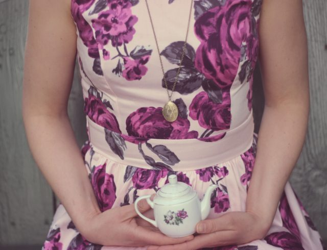 Lady Vintage London, 1950s inspired dresses, vintage floral tea dress, vintage fashion, vintage dress, tea dress, floral dress, made in London