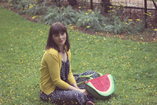 AMI Club Wear, Watermelon bag, Mod Cloth, Jcrew, Vintage Fashion, Fashion Blogger, summer fashion