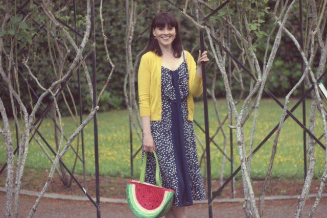 AMI Club Wear, Watermelon bag, Mod Cloth, Jcrew, Vintage Fashion, Fashion Blogger, summer fashion