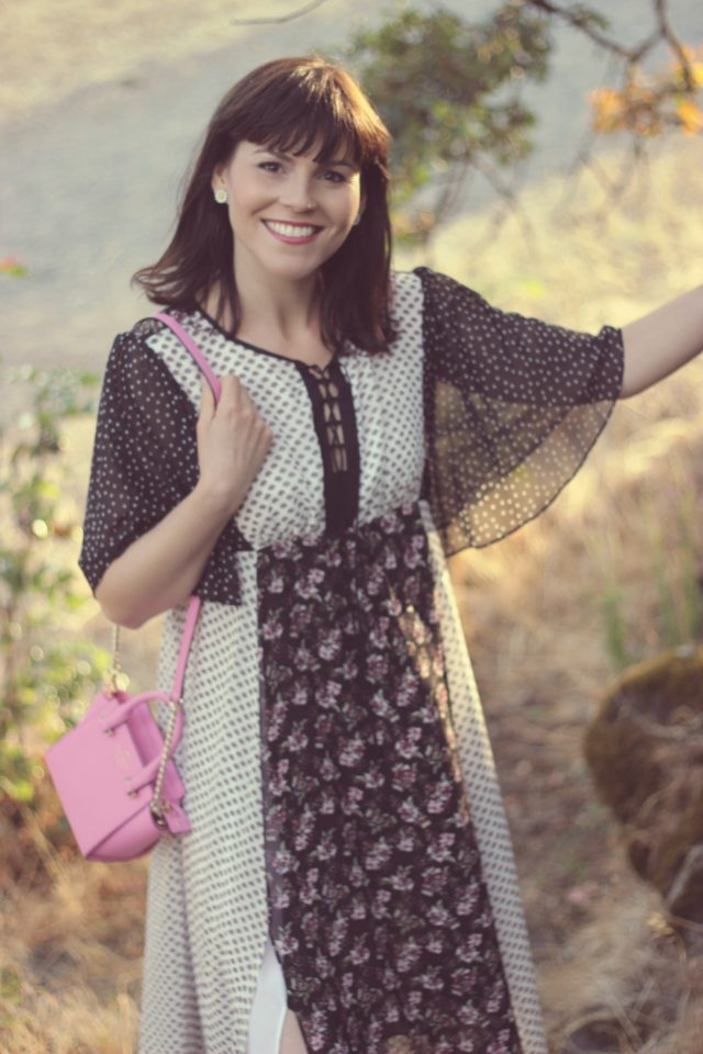 HIGHLINE COLLECTIVE Lace-Front Ruffle Accented Maxi Dress, Lord and Taylor, Hudson's Bay, Bohemian Fashion, Fashion Blogger, Street Style, Kate Spade New York