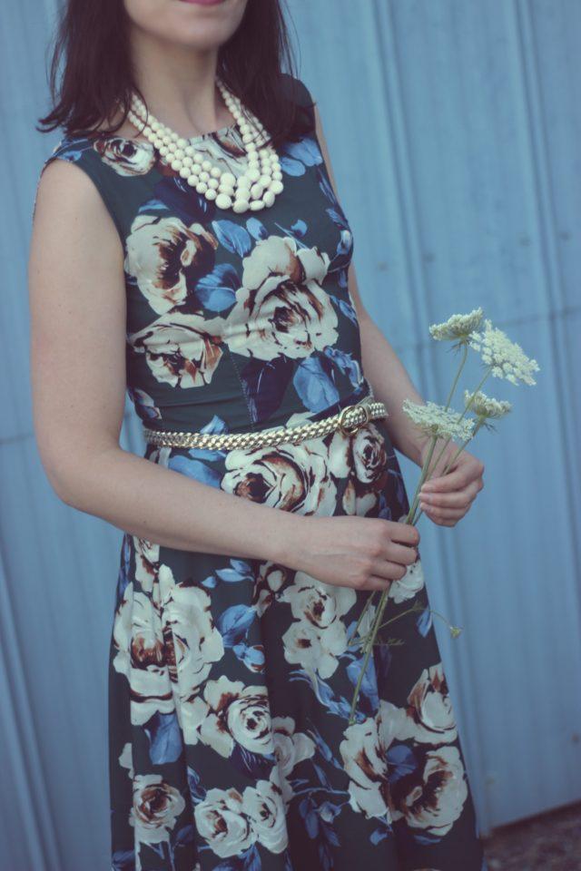Sammy Dress, Vintage, Fashion, Dress, Floral, Retro, Blogger, Style, Strawberry, Farm