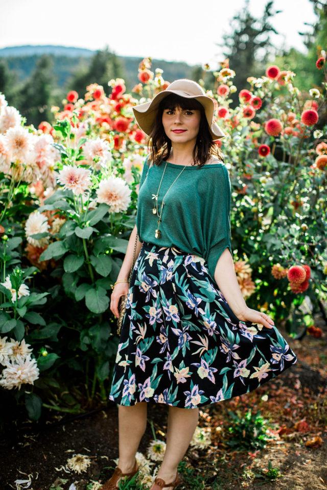 Migration Boutique, Rivkah Photography, Long Meadow Farm, Monday Magazine, Fashion Blogger, Victoria, Lavender Fields, floral