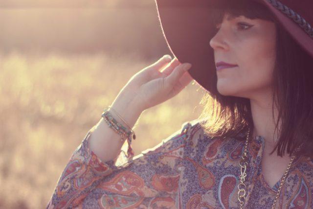 Paisley Maxi Dress, Maroon floppy hat, fall fashion, bohemian fashion, Marshalls. Vintage, Stephanie Kantis, boho, wanderlust
