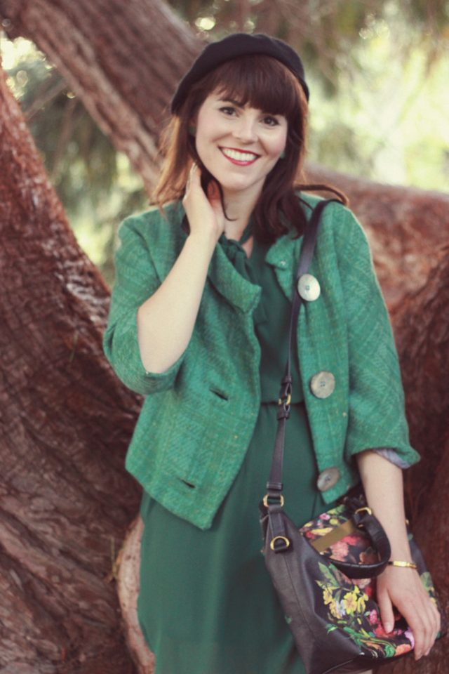 Vintage, fashion, Green, jacket, geek, chic, fall fashion, french, parisian