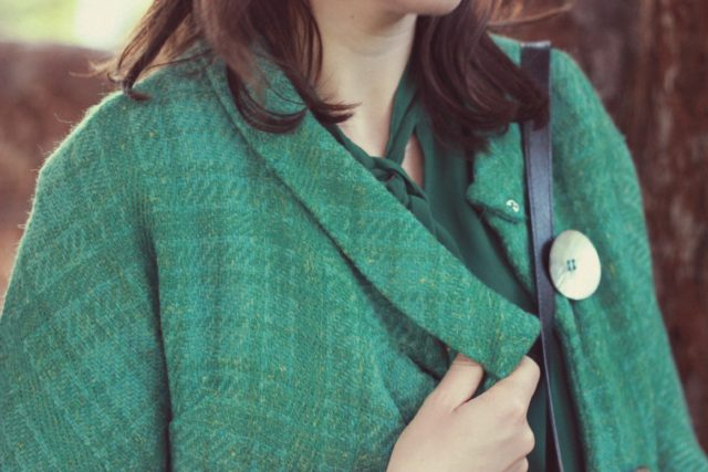 Vintage, fashion, Green, jacket, geek, chic, fall fashion, french, parisian