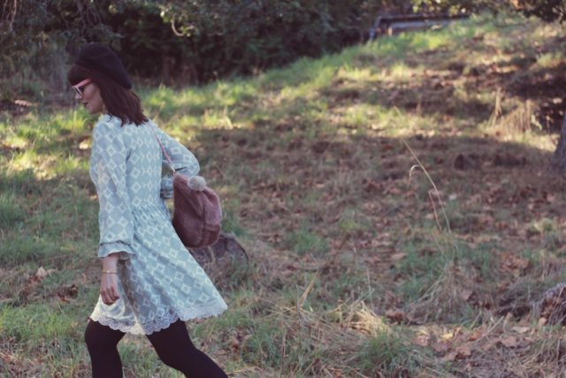 Highline Collective, Fall Fashion, vintage, Fashion Blogger, style, dress, Beret