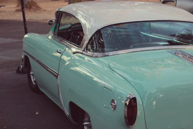 Vintage American Car, Sea Foam Green