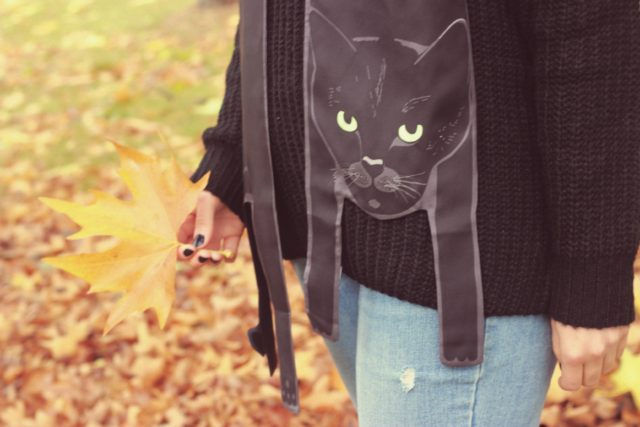 Tobi, #shoptobi, Cleo, Black Cat Silk Scarf, Halloween, Fall Fashion