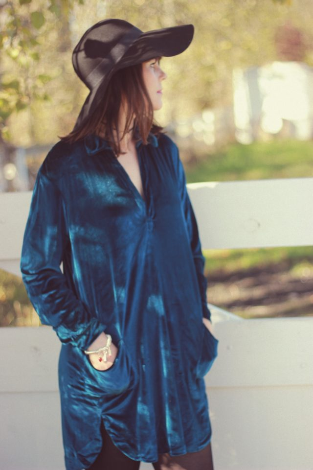 Zaful, Velvet Shirt Dress, Choker, Fall Fashion, Fashion Blogger, blue velvet, crushed velvet, Fall Fashion