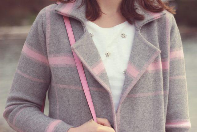 Chic Wish, Trendy Grid coat, grey and pink, fall fashion, fashion blogger, vintage, street style, street fashion